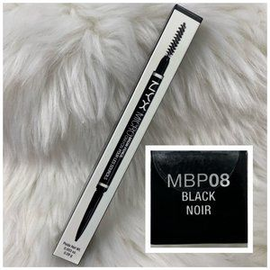 4/$20 NYX Micro Brow Pencil & Brush MBP08 Black